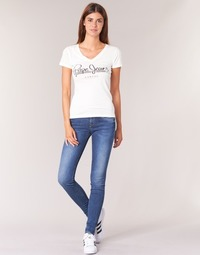 Textil Mulher Gangas Skinny Pepe jeans SOHO Azul
