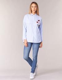 Textil Mulher Calças de ganga slim Pepe jeans GLADIS Azul / Claro