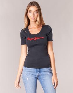 Textil Mulher T-Shirt mangas curtas Pepe jeans MARIA Preto