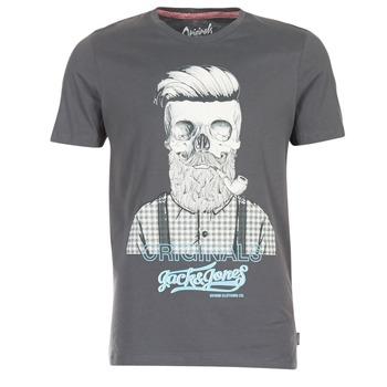 Textil Homem T-Shirt mangas curtas Jack & Jones CRIPTIC ORIGINALS Cinza