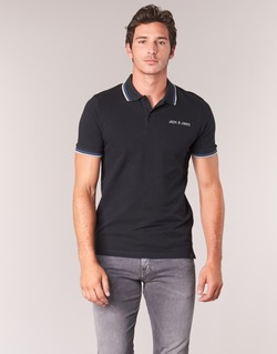 Textil Homem Polos mangas curta Jack & Jones WAZ ORIGINALS Preto