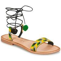 Sapatos Mulher Sandálias Lola Espeleta EDWINA Verde / Amarelo / Preto