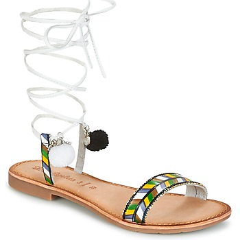 Sapatos Mulher Sandálias Lola Espeleta EDWINA Verde / Prata