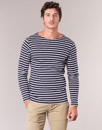 Textil Homem T-shirt mangas compridas Armor Lux GELGA Marinho / Branco