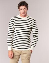 Textil Homem camisolas Armor Lux GROIM Branco / Marinho