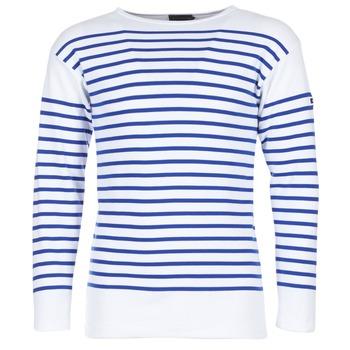 Textil Homem T-shirt mangas compridas Armor Lux DISJON Branco / Azul