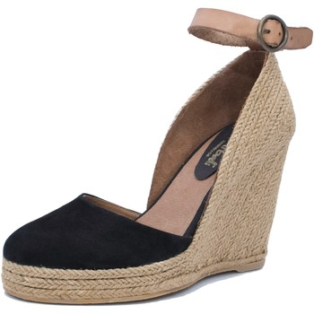 Sapatos Mulher Sandálias Mtbali Sandálias Tacão Compensado - Altea Black negro