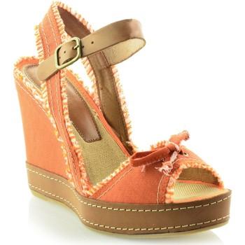 Sapatos Mulher Sandálias Mtbali Sandálias Tacão Compensado- San Diego naranja