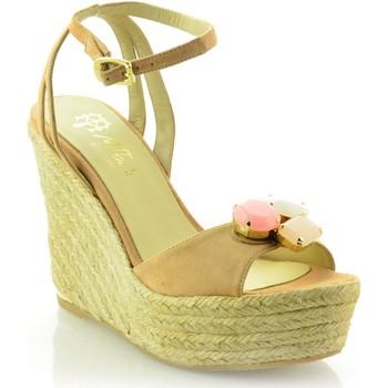 Sapatos Mulher Sandálias Mtbali Sandálias Tacão Compensado - Élégance beige