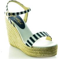 Sapatos Mulher Sandálias Mtbali Sandálias Tacão Compensado - Sunny azul