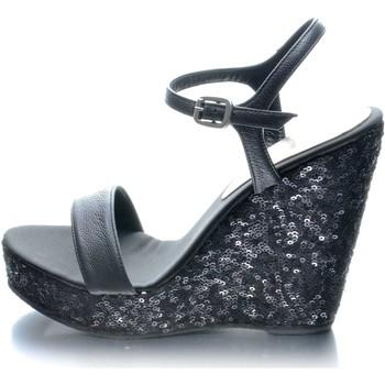 Sapatos Mulher Sandálias Mtbali Sandálias Tacão Compensado - Glam Noir negro