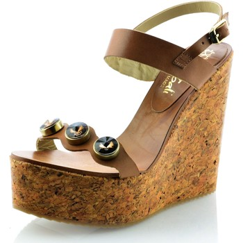 Sapatos Mulher Sandálias Mtbali Sandálias Tacão Compensado - Diamond marrón