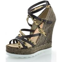 Sapatos Mulher Sandálias Mtbali Sandálias  Tacão Compensado - Pantera marrón