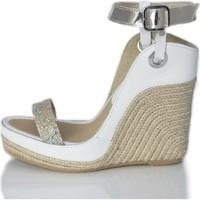 Sapatos Mulher Sandálias Mtbali Sandálias  Tacão Compensadoa - Nor White blanco