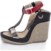 Sapatos Mulher Sandálias Mtbali Sandálias  Tacão Compensado - Nor Red rojo