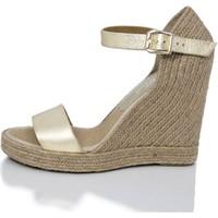 Sapatos Mulher Sandálias Mtbali Sandálias Tacão Compensado - Oceanside Platine oro