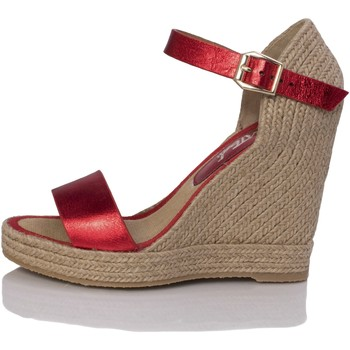 Sapatos Mulher Sandálias Mtbali Sandálias  Tacão Compensado - Oceanside Red rojo