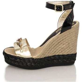 Sapatos Mulher Sandálias Mtbali Sandálias Tacão Compensado - Savane Glam oro