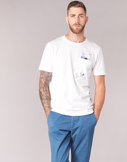 Textil Homem T-Shirt mangas curtas Jack & Jones CHECK ORIGINALS Branco