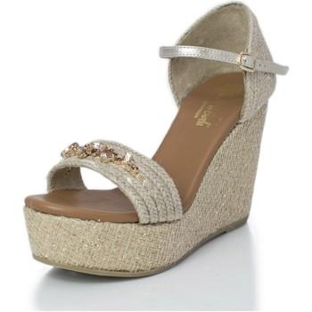 Sapatos Mulher Sandálias Mtbali Sandálias  Tacão Compensado - Paris Star beige