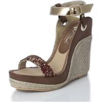 Sapatos Mulher Sandálias Mtbali Sandálias  Tacão Compensado - Nor Diamond rojo