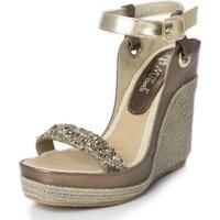 Sapatos Mulher Sandálias Mtbali Sandálias  Tacão Compensado - Nor Glamour plata