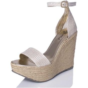 Sapatos Mulher Sandálias Mtbali Sandálias Tacão Compensado - Bahamas White blanco