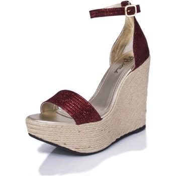 Sapatos Mulher Sandálias Mtbali Sandálias Tacão Compensado - Bahamas Red rojo