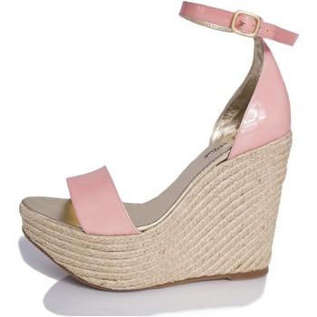 Sapatos Mulher Sandálias Mtbali Sandálias  Tacão Compensado - Bahamas Rose rosa