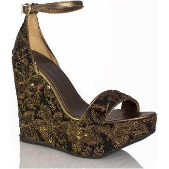 Sapatos Mulher Sandálias Mtbali Sandálias  Tacão Compensado - Beverly Black negro