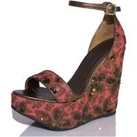 Sapatos Mulher Sandálias Mtbali Sandálias Tacão Compensado - Beverly Rose rosa