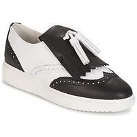 Sapatos Mulher Mocassins Geox D THYMAR C - NAPPA Branco / Preto