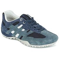 Sapatos Mulher Sapatilhas Geox U SNAKE K - SCAM.+MESH Azul