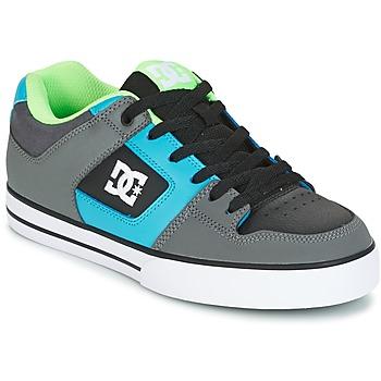 Sapatos Homem Sapatos estilo skate DC Shoes PURE Cinza / Verde / Azul