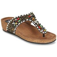 Sapatos Mulher Sandálias Metamorf'Ose ZABUSTE Preto / Multicolor