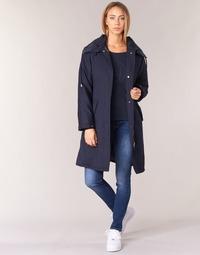 Textil Mulher Trench Armani jeans MERCHA Marinho