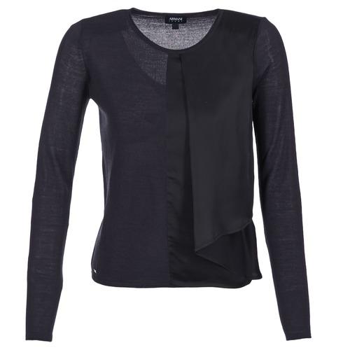 Textil Mulher camisolas Armani jeans JAUDO Marinho