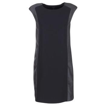 Textil Mulher Vestidos curtos Armani jeans LAMIC Preto / Cinza