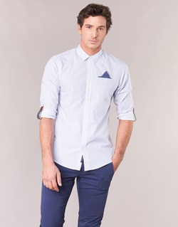 Textil Homem Camisas mangas comprida Scotch & Soda DARLU Branco / Azul