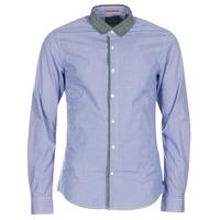 Textil Homem Camisas mangas comprida Scotch & Soda JILLA Azul