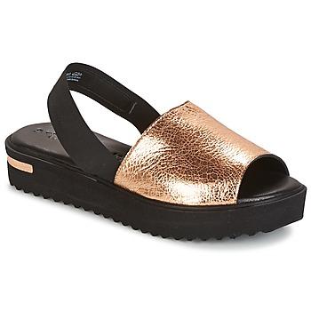 Sapatos Mulher Sandálias Tamaris  Preto / Ouro