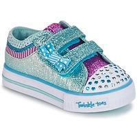Sapatos Rapariga Sapatilhas Skechers Shuffles Branco / Azul