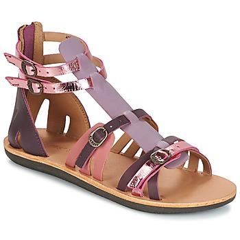 Sapatos Mulher Sandálias Kickers SPARTIATEN Violeta / Multicolor
