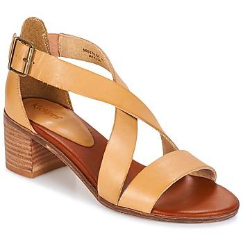 Sapatos Mulher Sandálias Kickers VOLTAX Bege