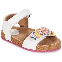 Sapatos Rapariga Sandálias Kickers NAISSA Branco