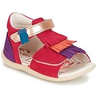 Sapatos Rapariga Sandálias Kickers BIHILANA Fúchsia  / Laranja / Violeta
