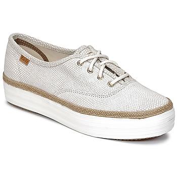 Sapatos Mulher Sapatilhas Keds TRIPLE DALMATA DOT LEATHER Creme