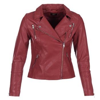 Textil Mulher Casacos de couro/imitação couro Only MADDY Vermelho