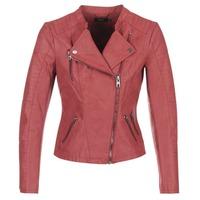 Textil Mulher Casacos de couro/imitação couro Only AVA Vermelho
