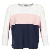 Textil Mulher camisolas Only REGITZE Branco / Rosa / Marinho